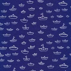 The Fleet in Navy from Seven Seas by Michéle Brummer-Everett for Cloud9 Fabrics