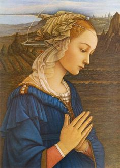 Renaissance artist Filippo Lippi Vergine delle Rocce Pray for us now, and in the hour of our death.