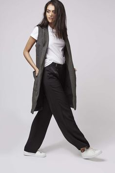 Photo 2 of Shawl Collar Sleeveless Jacket