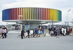 Man and Color Kaleidoscope at Expo 67 – Montreal, Canada Expo 67 Montreal, Montreal Ville, Montreal Canada, Mid Century Art, World's Fair, The Good Old Days, Osaka, Vintage Photos, Vintage Stuff