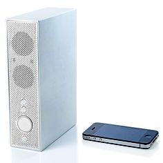 Titanium Speaker White, $150, now featured on Fab.