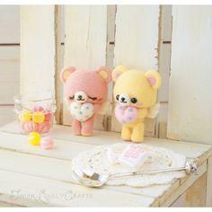 Japanese Needle Wool Felt Mascot DIY Kit -  Angel Bear - Miruco Jun - Kawaii Hamanaka - F15 by JapanLovelyCrafts on Etsy https://www.etsy.com/listing/177738914/japanese-needle-wool-felt-mascot-diy-kit