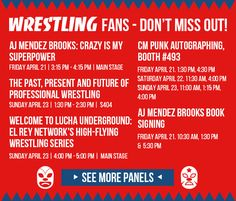 Wrestling Fans- Don't Miss Out!