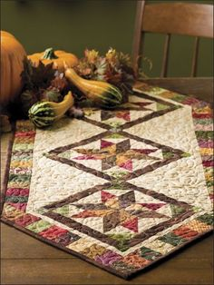 Autumn Stars Table Runner Pattern - Quilting Digest