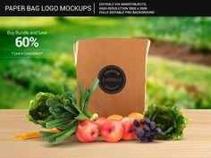 Grocery Paper Bag Logo Mockups_3 by shrdesign on @creativemarket