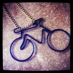 Summer Time Wire Wrapped Bicycle Pendant Necklace. $18.00, via Etsy.