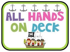 Pirate theme open house back to school powerpoint template all hands on deck pirate theme job chart for back to school jobs include trash toneelgroepblik Image collections