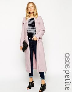 adorable pale pink trench coat - love this entire look