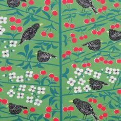 Almedahls Green Körsbärsträdgården Scandinavian Fabric