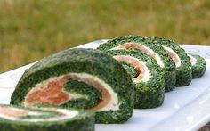 Roulé épinards-saumon Encore meilleur préparé la veille. Ne couper que le jour même