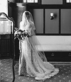 modest wedding dress with short sleeves from alta moda bridal (modest bridal gowns) photo by mikki platt