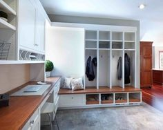 New plan – office will become command center – drop zone mud room office - My Home Decor Home Office Design, Home Office Decor, Office Ideas, Office Plan, Interior Office, Office Furniture, Furniture Ideas, House Design, Mudroom Laundry Room