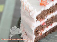 Ilusiones Color Pastel: Layer Cake de chocolate y fresas - Gracias amigos...