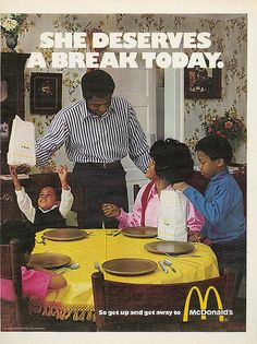 McDonald's 1971...seriously though who sets the table for McDonald's
