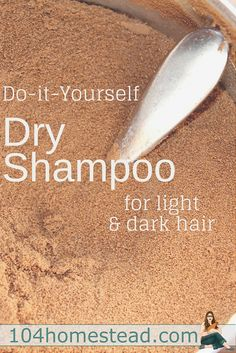 The Best DIY Dry Shampoo for Light or Dark Hair Traditional shampoos can be harsh and dry out your hair. Learn why you should use dry shampoo and get some recipes so you can easily make it yourself. Healthy Skin Care, Healthy Hair, Homemade Beauty, Diy Beauty, Cool Diy, Shampoo Seco, Make Natural, Natural Beauty, Natural Living