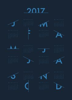 Calendar 2017, Blue by Coco Lapine | Poster from theposterclub.com