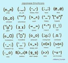japanese emoticons i will now use these to annoy ppl