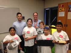 These five campers from Baldwin Elementary School in San Jose, California had TWO awesome visitors earlier this week!  Albert Mach, Ph.D. is a 2011 Graduate Third Prize Winner in our Collegiate Inventors Competition and Mark Hathaway is a Technologist, Product Quality Engineering at WD, a company that greatly supports what we do!   We were so excited to have both visitors and hope they both stop by again soon.