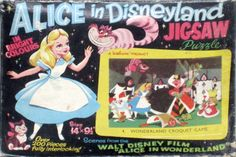 Vintage Disney Alice in Wonderland: Welcom Jigsaw Puzzle Black Box Series from England - #4 Wonderland Croquet Game