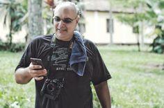 Paulo Leonardo Fotógrafo em suas atividades, ministrando aulas do Curso de Fotografia Digital da Nexus Treinamentos.