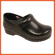 Original By Sanita Women's Cabrio Clog Brush Off Leather Black - Work and saftey shoes for women (*Amazon Partner-Link)