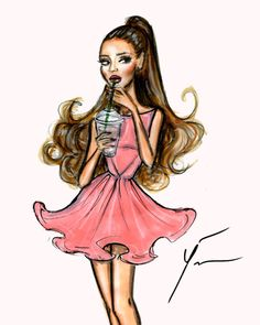 Ariana Grande 'Pink Sorbet' by Yigit Ozcakmak    Be Inspirational ❥ Mz. Manerz: Being well dressed is a beautiful form of confidence, happiness & politeness