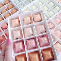 nectar and stone pyramid chocolates