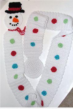 Long Snowman Scarf Pattern - $4.86
