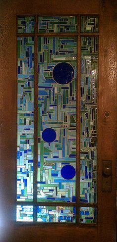 pretty stained glass door