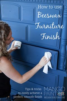 Are you looking for tips on how to get a perfect, silky-smooth finish on your freshly painted furniture project using beeswax finish? Check out our super helpful tutorial video, showing you how to get your piece looking finished and fabulous in a pinch! #mangopaint #furniturepaint #beeswaxfurniturefinish #furniturewax #upcyclingtutorial #diytutorial #howtopaintfurniture #furnitureproject Diy Furniture Wax, Chalk Paint Furniture, Diy Furniture Projects, Chalk Paint Wax, Diy Painting, Diy Tutorial, Upcycle, Mango, Tutorials