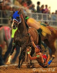Hold on tight! Indian Relays at the Wyo Rodeo are just around the corner. Amazing capture by Diana Volk Photography. Indian man dragging on the reins of his horsr North American Tribes, Native American Horses, Indian Horses, Relay Races, Cowboys And Indians, Horse Photos, Native Indian, Pretty Horses, First Nations
