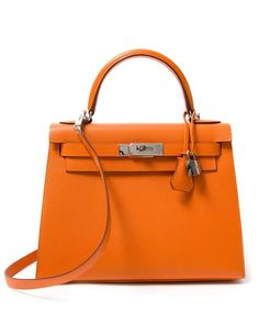 buy safe online seconde hand designer vintage hermes orange kelly like new, dustbag