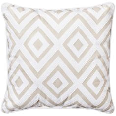 Threshold Contrast Back Tan/White Diamond Pillow (87 DKK) ❤ liked on Polyvore featuring home, home decor, throw pillows, pillows and interior