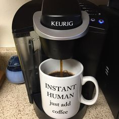 Explore all Keurig® coffee machines and brewing systems designed to create the perfect cup, mug or carafe every time.Discover your ultimate K-Cup® coffee maker Coffee Quotes Funny, Funny Coffee Mugs, Coffee Sayings, Single Cup Coffee Maker, Single Serve Coffee, Coffee Time, Coffee Cups, Coffee Photos, K Cups