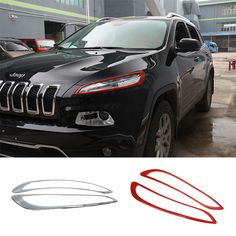 MOPAI ABS Car Headlight Daytime Running Light Lamp Decoration Cover Exterior Stickers for Jeep Cherokee 2014 Up Car Styling _ {categoryName} - AliExpress Mobile Version - Cherokee Car, Jeep Cherokee 2014, Jeep Trailhawk, Jeep Cherokee Trailhawk, Jeep Cherokee Accessories, Jeep Accessories, Jeep Lights, Jeep Stickers, Jeep Mods