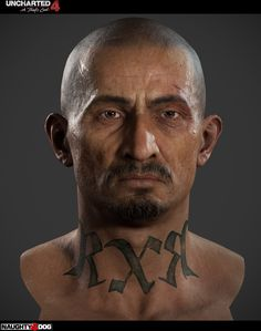 Character Art by Adam Skutt Character Concept, Character Art, Character Design, Uncharted Series, 3d Portrait, Neck Tattoo For Guys, Anatomy Sketches, Base Image, Character Modeling
