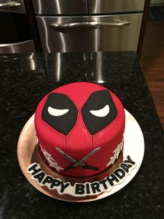 My daughters Deadpool cake