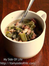 My Side of Life: Mustard Greens Ham & Beans