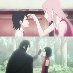 Sarada & Sasuke & Sakura 💖