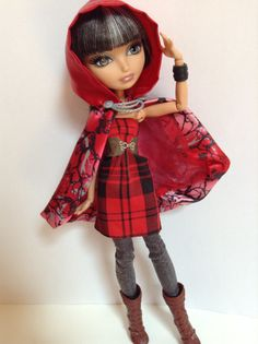 """Ever After Dolls """"Plaid Perfection"""" Dress and Belt for Cersie"""