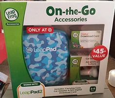 Leapfrog Leappad Accessories Onthego Bundle Blue Carrying Case Car Adapter  15 Digital Download Card -- Want to know more, click on the image.Note:It is affiliate link to Amazon.
