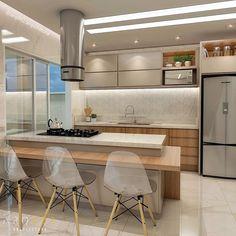 Ideas Home Door Entrance Decor Apartment Kitchen, Home Decor Kitchen, New Kitchen, Home Kitchens, Modern Kitchen Design, Interior Design Kitchen, Home Decor Furniture, Kitchen Furniture, Scandinavian Kitchen