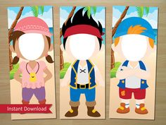 Jake y los piratas de Neverland Photo Booth apoyar (Jake, Izzy, Cubby y Capitán…
