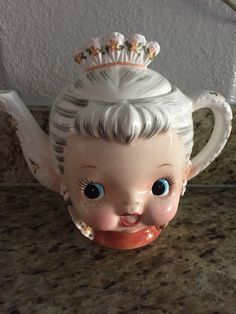 Rare Vintage Lefton China Girl teapot ms priss style | eBay