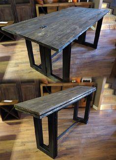 tavolo consolle ribalta cm 170 industrial style in offerta