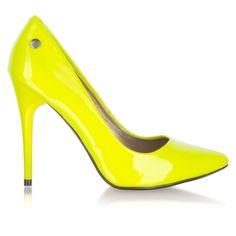 Czółenka Blink 701117-K-39 Neon Yellow