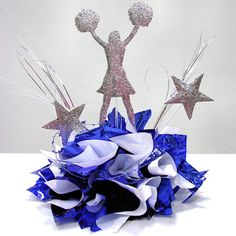 """12"""" Cheerleader use used in a table decoration. Choose from 18 cracked ice colors. Great for School Banquets, Bat Mitzvah, Graduation or Birthday party. www.awesomeevent.com                                                                                                                                                     More"""