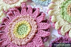 @ MyPicot - Free crochet flower pattern, thanks so for tute xox