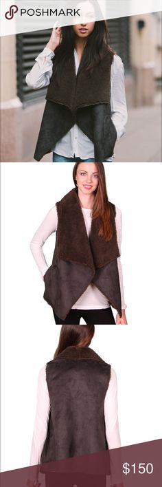 🆕 Velvet by Graham & Spencer Olive Faux Fur Vest 🆕 Velvet by Graham and Spencer Faux Fur /Faux Suede Draped Vest in Olive. Size XS. Absolutely gorgeous and perfect for fall. Side pockets. Beautiful olive green/brown color. Pair with jeans and suede booties! Make an offer or take advantage of my bundle discount. Ask me to create a custom bundle when buying 3 or more items, and save even more! Velvet Jackets & Coats Vests
