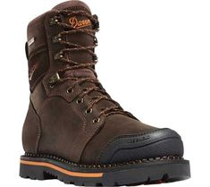 Danner Trakwelt 8 Non Metallic Toe Work Boot (Men's) Brown Chukka Boots, Brown Boots, Combat Boots, Clarks Boots, Men's Boots, Leather Men, Leather Boots, Composite Toe Work Boots, Goodyear Welt